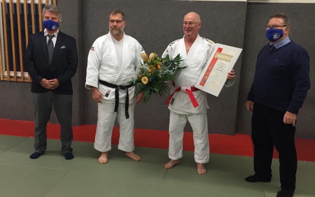 Eberhard Dettmer mit dem 6. Dan geehrt