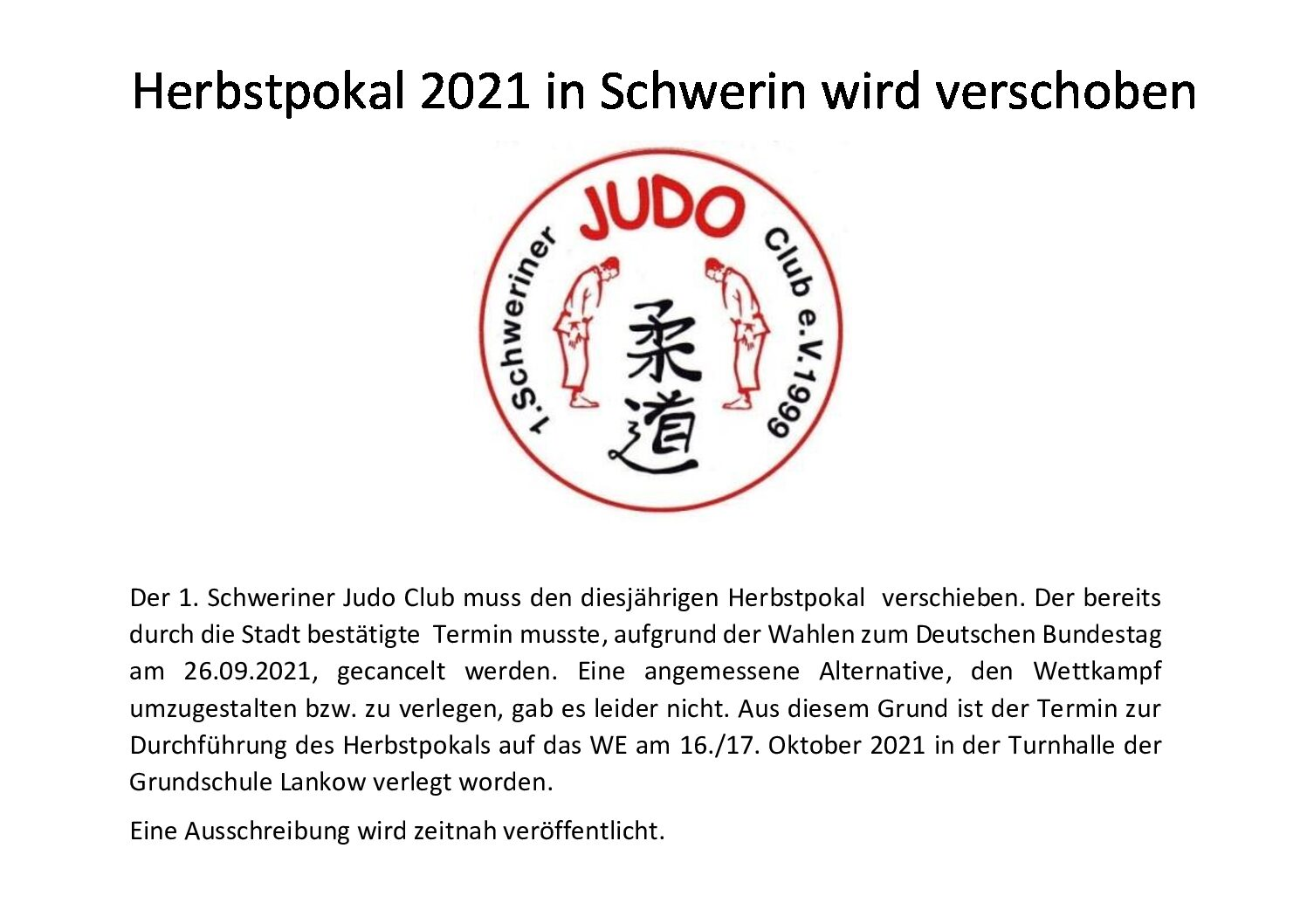 Herbstpokal des 1. Schweriner JC